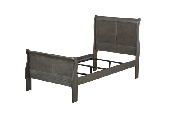 Acme Furniture Louis Philippe Dark Gray Twin Bed ACM-26800T