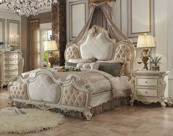 Acme Furniture Picardy Antique Perl 2pc Bedroom Set with Cal King Bed ACM-26880-BR-S1