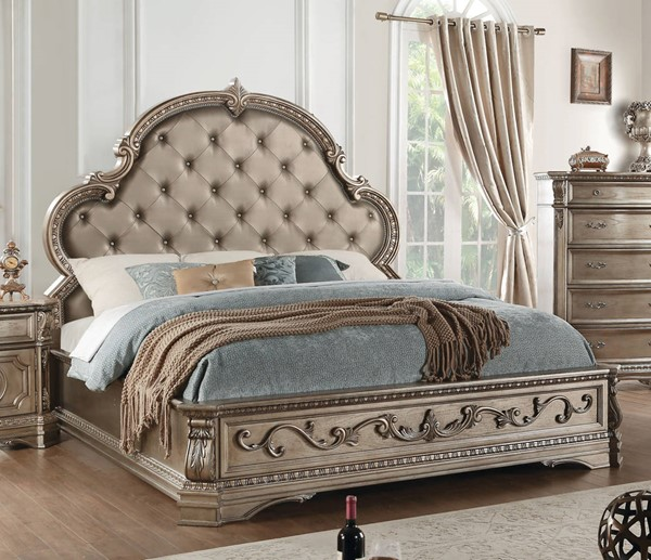 Acme Furniture Northville Antique Champagne Cal King Bed ACM-26924CK