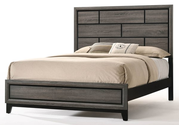 Acme Furniture Valdemar Weathered Gray Queen Bed ACM-27050Q