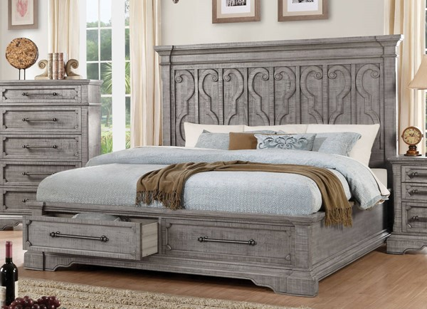 Acme Furniture Artesia Salvaged Natural King Storage Bed ACM-27097EK
