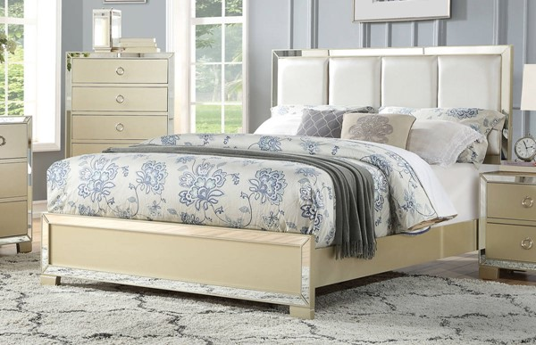 Acme Furniture Voeville II Champagne Queen Upholster Bed ACM-27130Q
