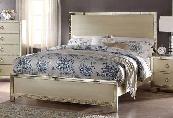 Acme Furniture Voeville II Champagne Queen Bed ACM-27140Q