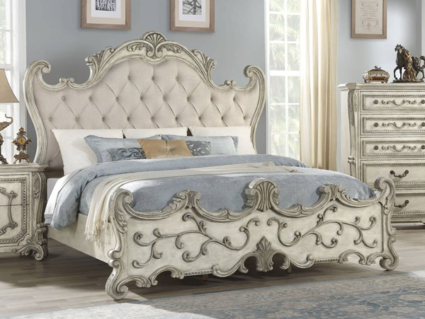 Acme Furniture Braylee Antique White Queen Bed ACM-27180Q