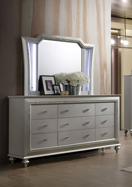 Acme Furniture Kaitlyn Champagne Dresser And Mirror The