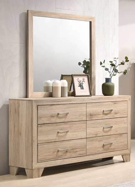 Acme Furniture Miquell Natural Dresser and Mirror ACM-2804-DRMR