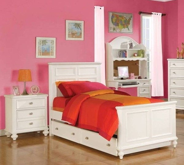 Acme Furniture Athena White Twin Trundle Beds ACM-3000-TNDR-BED-VAR