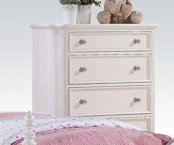 Acme Furniture Athena White Round Knobs Drawer Chest ACM-30012