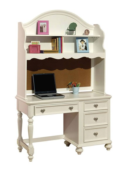 Athena Youth White Wood Computer Desk W/Hutch ACM-30014-15