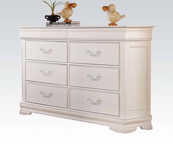 Classique Youth White Wood Double Dresser ACM-30131