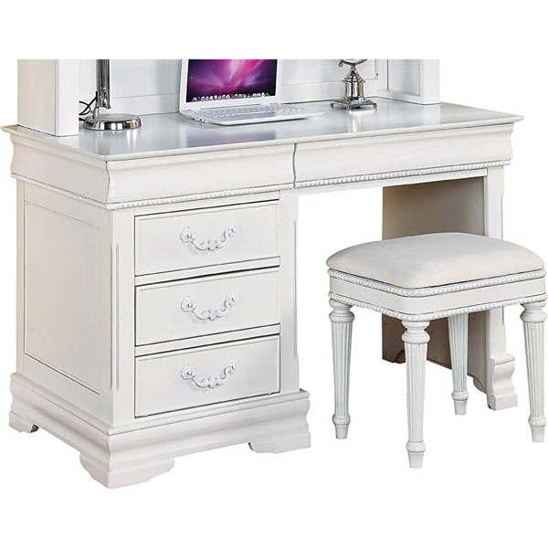 Acme Furniture Classique White Desk ACM-30135