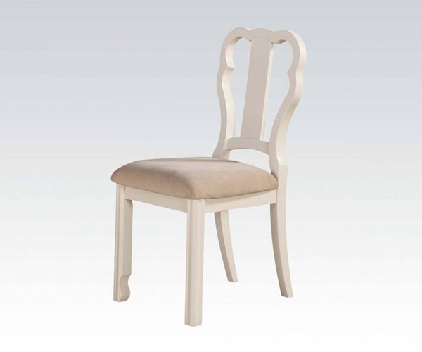 Ira Youth White Wood Fabric Armless Chair ACM-30154