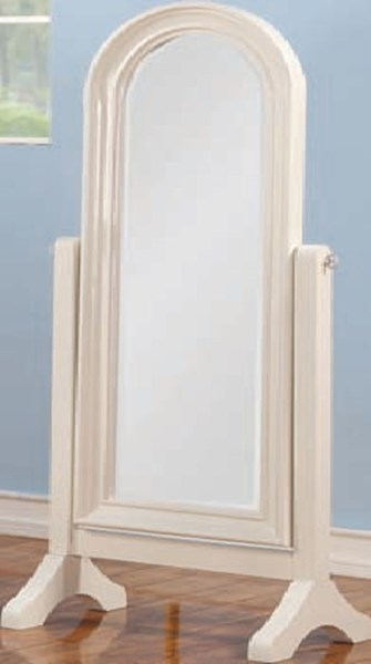 Ira Youth White Wood Glass Cheval Mirror ACM-30155