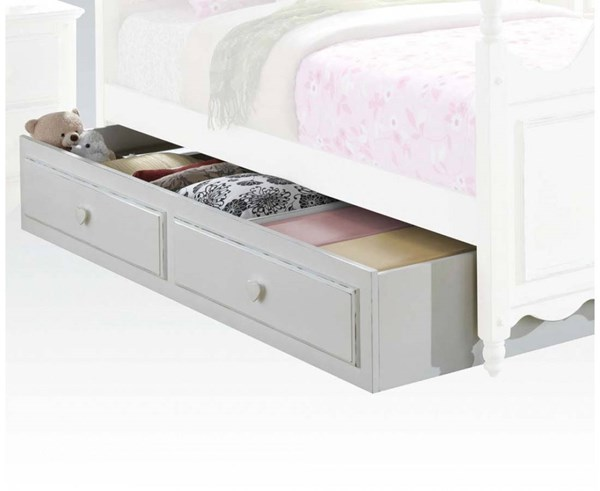Sweetheart Country White Wood Trundle/Storage Drawer Only ACM-30174