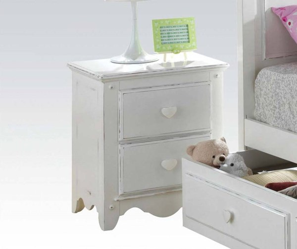 Sweetheart Country White Wood Nightstand ACM-30175
