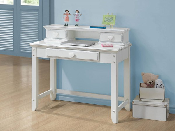 Sweetheart Country White Wood 3 Drawers Computer Desk ACM-30179-DS