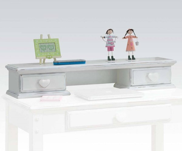 Sweetheart Country White Wood Computer Hutch ACM-30179