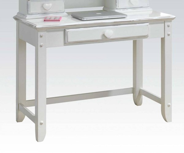 Sweetheart Country White Wood Computer Desk ACM-30180