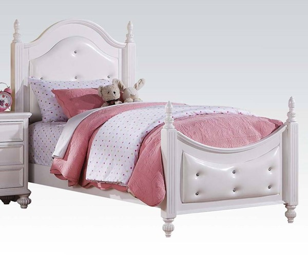 Acme Furniture Athena White Full Poster Bed ACM-30205F