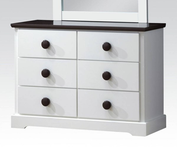 Docila Youth White Chocolate Wood Dresser ACM-30226