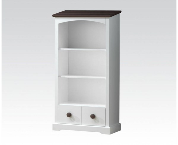 Docila Youth White Chocolate Wood Bookcase w/1 Drawer ACM-30227