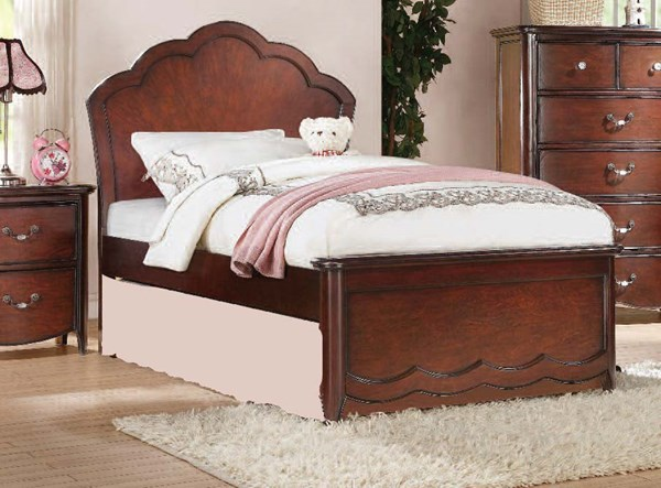 Cecilie Youth Cherry Wood Full Bed w/Panel Headboard ACM-30275F