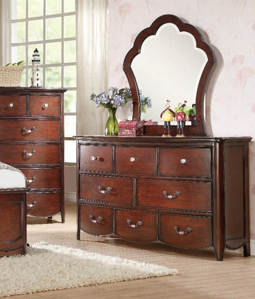 Cecilie Youth Cherry Wood 8 Drawers Dresser ACM-30285