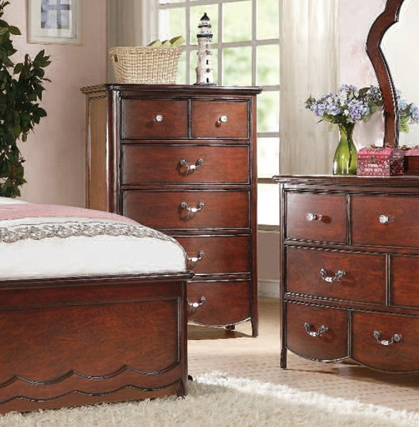 Cecilie Youth Cherry Wood 6 Drawers Chest ACM-30286