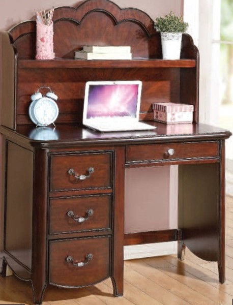 Cecilie Youth Cherry Wood Computer Hutch ACM-30288