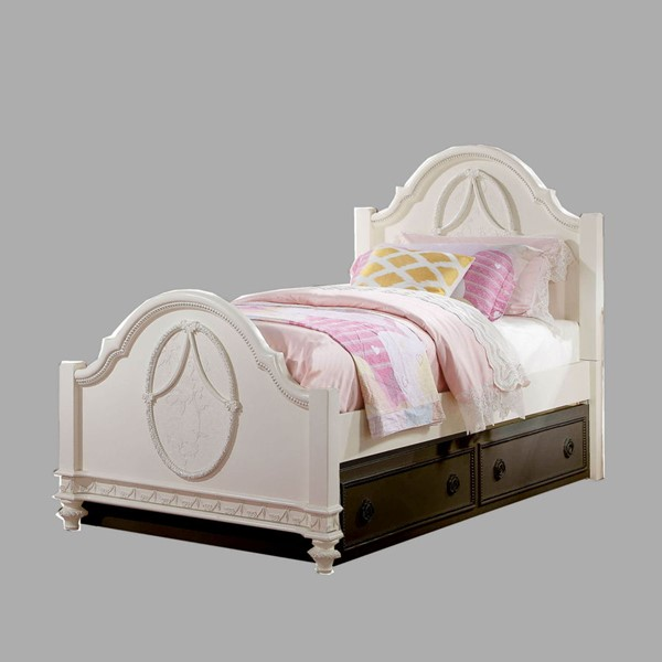 Acme Furniture Dorothy Ivory Twin Poster Bed ACM-30360T