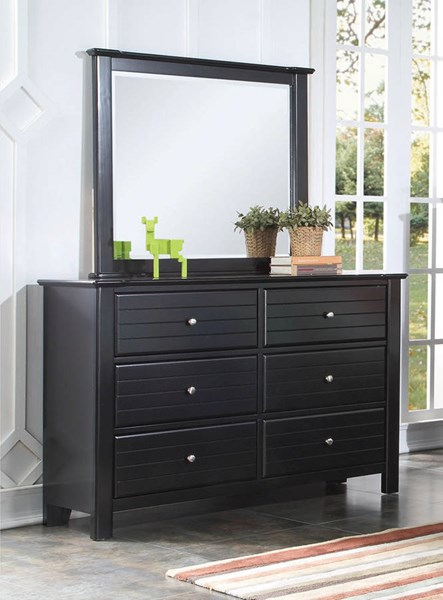 Mallowsea Youth Black Wood 6 Drawers Dresser ACM-30395