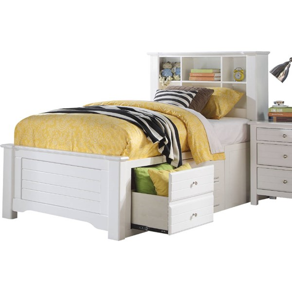 Acme Furniture Mallowsea White Twin Storage Rail Bed ACM-30420T
