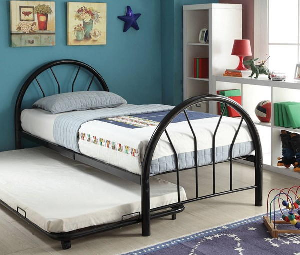 Silhouette Black Metal Twin Beds ACM-30450-BEDS