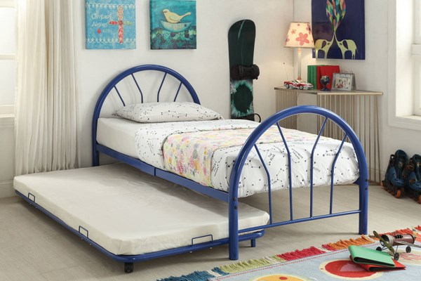 Cailyn Blue Metal Twin Bed W/Trundle ACM-30460-63BU