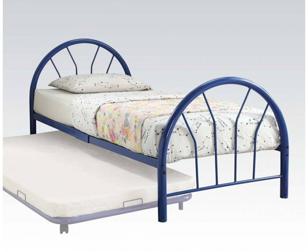 Silhouette Blue Metal Twin Bed ( L 79 X W 39 X H 33 ) ACM-30450T-BU
