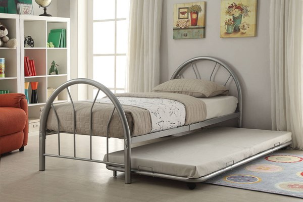 Cailyn Silver Metal Twin Bed W/Trundle ACM-30460-63SI