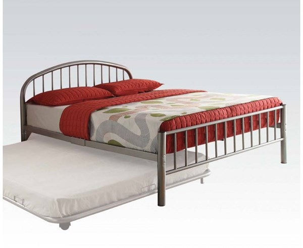 Cailyn Silver Metal Twin Bed ( L 79 X W 39 X H 33 ) ACM-30460T-SI