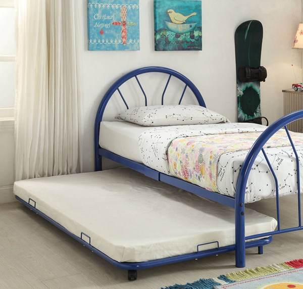 Cailyn Blue Metal Twin Trundle w/Casters ACM-30463BU