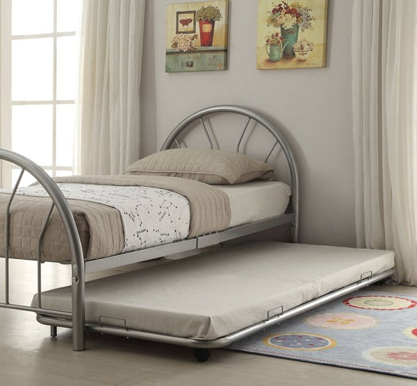 Cailyn Silver Metal Twin Trundle w/Casters ACM-30463SI