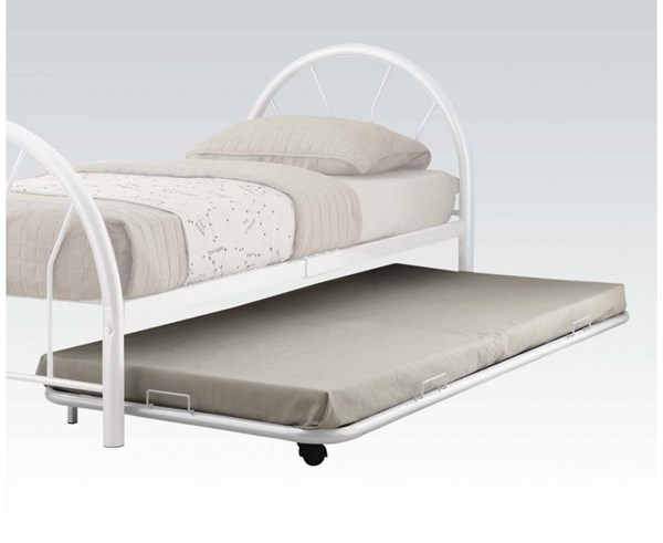Cailyn White Metal Twin Trundle w/Casters ACM-30463WH