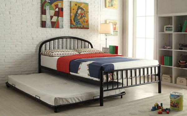 Cailyn Black Metal Full Beds w/Trundle ACM-30465-BEDS-VAR