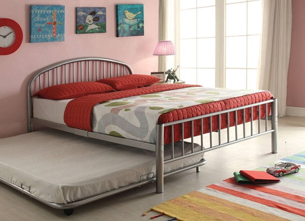 Cailyn Silver Metal Twin Bed (L 79 X W 39 X H 33 ) ACM-30465F-SI