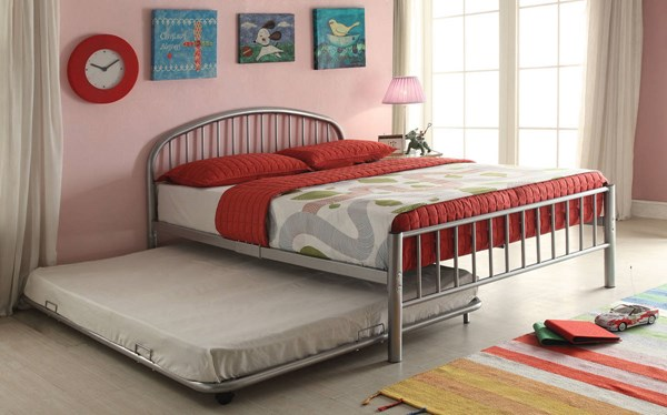 Cailyn Silver Metal Full Bed w/Trundle ACM-30465-68SI