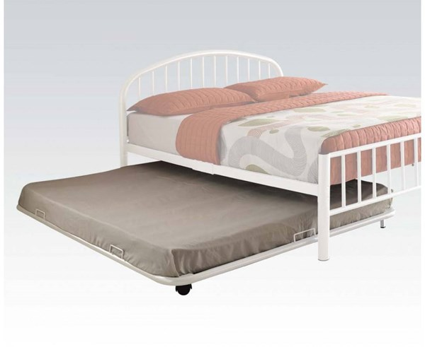 Cailyn White Metal Full Trundle w/Casters ACM-30468WH