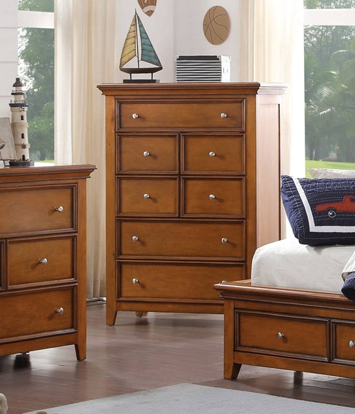 Lacey Modern Cherry Oak White Pine Wood Chests ACM-3056-DC-VAR
