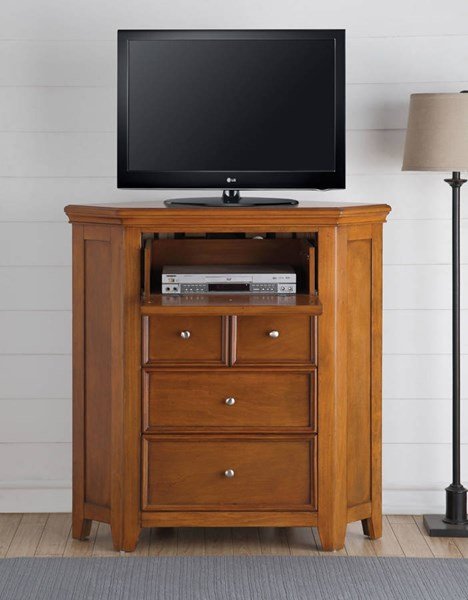 Lacey Modern Cherry Oak White Pine Wood Corner TV Consoles ACM-3056-MC-VAR