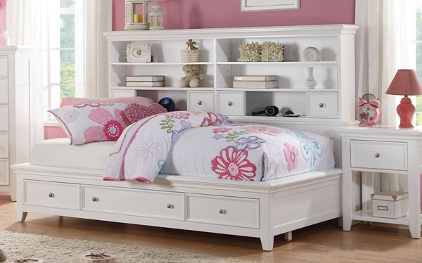 Lacey Modern White Pine Wood Twin Storage Daybed ACM-30590T