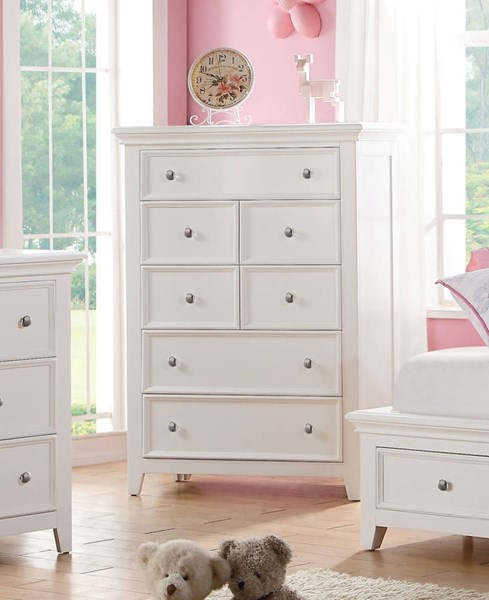Lacey Modern White Pine Wood Chest ACM-30602
