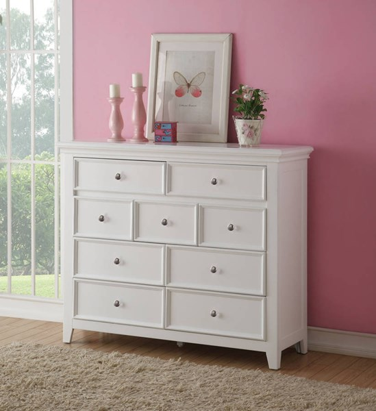 Lacey Modern White Pine Wood Oversized TV Console ACM-30604