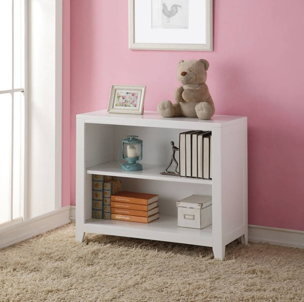 Lacey Modern White Pine Wood Bookcase ACM-30607